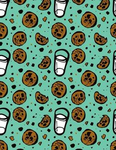 Cookies and Milk..Love!!! A personal favorite from my Etsy shop