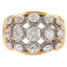 VAN CLEEF and ARPELS Diamond Gold Ring at 1stdibs