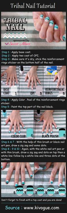 literally 100s of tutorials! - Tribal Nails Tutorial