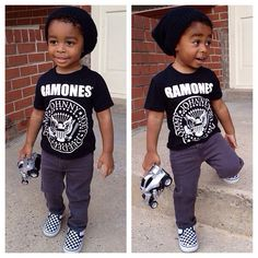 (No link) The Ramones! Dark jeans and checkered slip-on Vans with a slouchie beanie