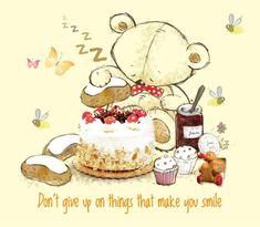 Tatty Teddy, Don't Give Up, Make You Smile, Disney Characters, Fictional Characters, Snoopy, Make It Yourself, Disney Princess, Teddy Bears