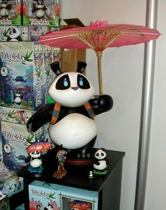 Panda with umbrella - available anywhere? | Takenoko | BoardGameGeek