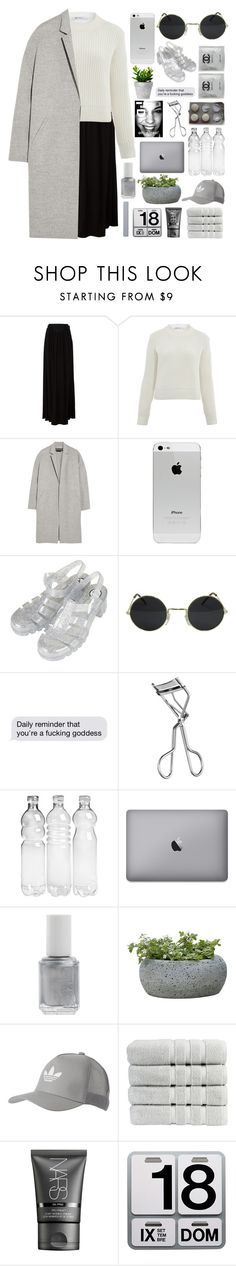 """""""youthful"""" by tsunami-wxves ❤ liked on Polyvore featuring Just Cavalli, T By Alexander Wang, Rochas, Topshop, Lancôme, Essie, Campania International, adidas Originals, Christy and NARS Cosmetics"""