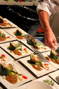A chef prepares tasting plates at the Blue Ridge Wine and Food Festival in Blowing Rock, N.C.