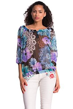 Desigual Merine - Blouse - Taille loose - Manches longues - Femme - Bleu (Marino) - FR: 36 (Taille fabricant: XS) Desigual http://www.amazon.fr/dp/B00OJ98JHY/ref=cm_sw_r_pi_dp_0bT7vb1AABAXZ