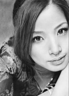 AYA UETO No. II by Thea-Nu on deviantART - this is a pencil portrait!