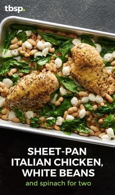 Cook dinner for two without the waste! Fast-cooking chicken, flavorful beans and bold greens make this all-on-one meal a total no-brainer.
