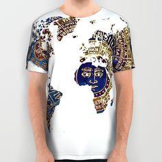 World map All Over print tshirt #alloverprint #tshirt #tshirts