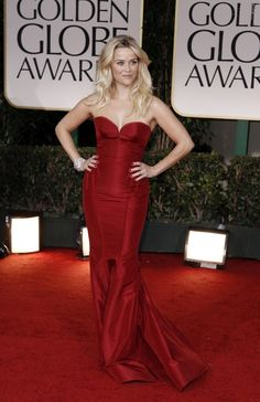 Reese Witherspoon in the Top 10 Best Dressed at the recently concluded Golden Globe Awards