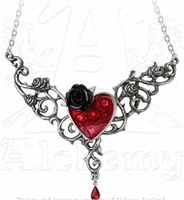 Alchemy Gothic - The Blood Rose Heart Pendant  #goth #gothic #punk #punkrock #rockabilly #psychobilly #pinup #inked #alternative #alternativefashion #fashion #altstyle #altfashion #clothing #clothes #vintage #noir #infectiousthreads #horrorpunk #horror #steampunk #zombies #burningmanclothing  #alchemygothic #heartnecklace #gothicnecklaces #gothnecklaces #gothicjewelry #gothjewelry
