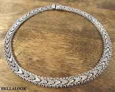 "10mm 16"" MARKED 925 MEXICO TAXCO SOLID STERLING SILVER RICCIO CHAIN NECKLACE 53g"