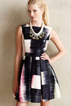 Perfect dress when I can't decide what to wear! Lovely fit-and-flare design.  #anthrofave #anthropologie #dress #women #fashion