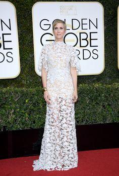 Kristen Wiig in a Reem Acra dress, Golden Globes in Jan 2017
