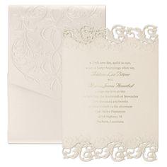 2017 Wedding Themes: Glitz and Glam - Shimmering Elegance - Invitation > Wedding Invitations | Occasions In Print, LLC | Invitation Link - http://occasionsinprint.carlsoncraft.com/Wedding/Wedding-Invitations/3124-BSN4401-Shimmering-Elegance--Invitation.pro