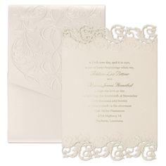2017 Wedding Themes: Glitz and Glam - Shimmering Elegance - Invitation > Wedding Invitations | Occasions In Print, LLC | Invitation Link - http://occasionsinprint.carlsoncraft.com/Wedding/Wedding-Invitations/3124-BSN4401-Shimmering-Elegance--Invitation.pro