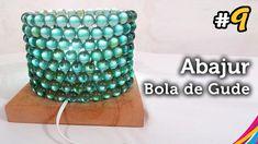 Luminaria com Bola de Gude - Table Lamp Of Marbles - Lámpara de Mesa con...