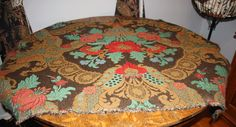 1920s tapestry fabric metallic threads red teal by toottootsie, $175.00