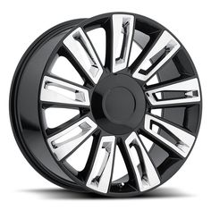 "4) 22"" 2015 Cadillac Escalade Luxury Option 3 Gloss Black Chrome Wheels Rims Set #Reproduction"