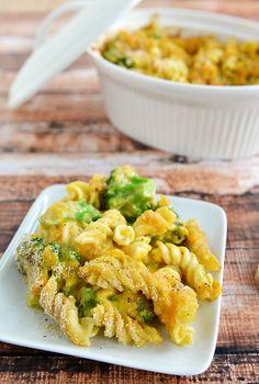 Broccoli Cheddar Mac n Cheese Casserole