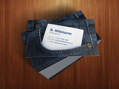 Good business card for a jeans or clothing range.