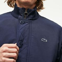 8c09bcb9b4 Men's Lacoste SPORT Hooded Water-Resistant Taffeta Tennis Jacket ...