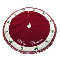 Kurt Adler 50-Inch Red/Cream Merry Christmas Treeskirt Kurt Adler http://www.amazon.com/dp/B007KKW0RE/ref=cm_sw_r_pi_dp_HVKJub0R4VA89