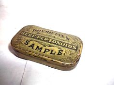 Vintage 1880s Reed Carnrick Beef Peptonoids Physicians Sample Tin | eBay