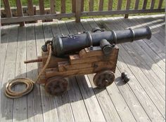 How to build a pirate cannon.