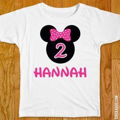 Pink Minnie Mouse Birthday Iron-On 2e16f5ff2595