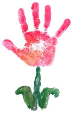 handprint flower... mother's day card??? Cute Crafts, Crafts To Do, Preschool Crafts, Crafts For Kids, Hand Print Flowers, Kids Hands, Flower Crafts, Footprint Crafts, Mothers Day Crafts