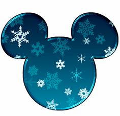 Cabezas de Mickey rellenas con copos de nieve.                                                                                                                                                                                 Más