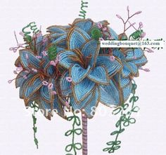 Image detail for -... Lilies Beads French Beaded Flowers French Beaded Flowers Very Elegant