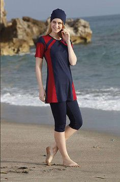 Adabkini Muge Pool/gym Wear, Girls Swimming Wear, semi-covered Swimwear, Sun Sui