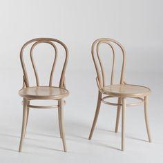 Chaise style bistrot, (lot de 2), Inqaluit
