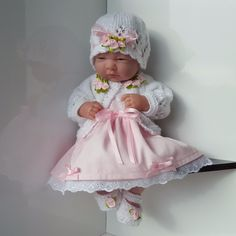 "Handmade Baby Dolls Clothes for 12""-14"" BERENGUER /CUPCAKE LA NEWBORN /REBORN pw"