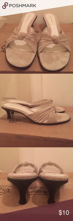 """Banana Republic Haley Heeled Sandal Banana Republic Haley Heeled Sandal EUC Color: Chai Size: 10 Heel Height: 2"""" Composition: Leather Upper; Rubber Sole *True to size. These were worn a handful of times. Perfect for dressing up or down. Banana Republic Shoes Heels"""