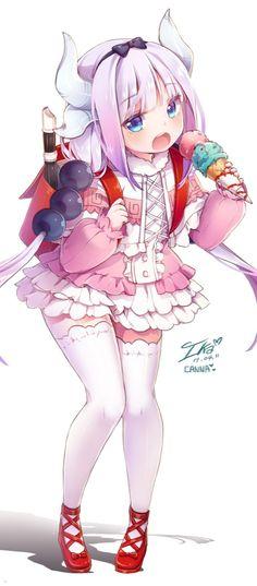Maid Dragon, Kanna, by Ika