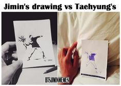 Jimin vs. V // awwww love them both though // awwwww ♡♡♡♡♡