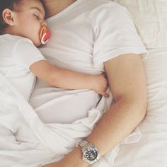sweet dad and baby photo