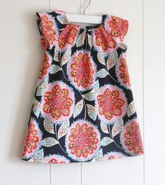 ShiftMod Tunic / Antique Flowers in Navy by perryfinalia, $26.00