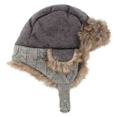 a0818a7562c Keep your little one cozy and warm this winter with the Cable Trapper Hat  from Rising Star. This hat is designed in a trapper style with ear flaps  and fur ...