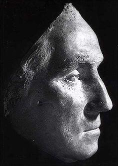 George Washington's Life Mask (1785) by Jean Antoine Houdon when Washington was 53 years old.