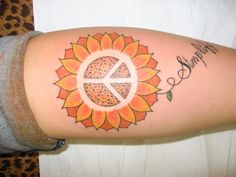 sunflower peace sign. It's crazy that as soon as I see something like this, I immediately think of you.