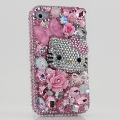 3d swarovski pink hello kitty crystal bling case cover faceplate for iphone 4 4s att verizon sprint handcrafted by blingangels photo 001 ^ 3D Swarovski Pink Hello Kitty Crystal Bling Case Cover faceplate for iphone 4 4S AT Verizon & Sprint (Handcrafted by BlingAngels) Big SALE