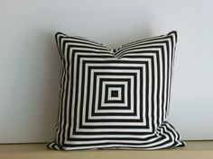 b/w striped pieced pillow cover