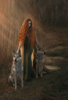 watacha by magorzatakuriata - Image Of The Month Photo Contest Vol 32 Beautiful Red Hair, Beautiful Redhead, Wolves And Women, Wolf Images, She Wolf, Kindred Spirits, Archetypes, Photo Manipulation, Wolf Spirit
