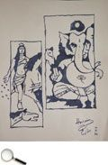Maqbool Fida Husain (1915 - 2011)    Untitled, ink on paper, 1984