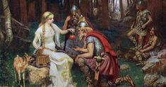 Idunn goddess of youth fruits in Norse mythology Classic Paintings, Old Paintings, Renaissance Paintings, Pre Raphaelite, Feminist Art, Realism Art, Norse Mythology, Classical Art, Fine Art