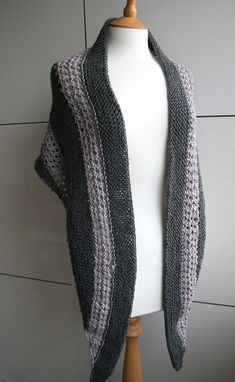 KNITTING PATTERN, scarf knitting pattern 16, wrap knitting pattern, Instant download  This is a fairly easy knitting pattern, made out of the softest