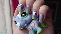 Nail art petshop inspiration hippo. I would soooo love to do that!!! I have that hippo too:)